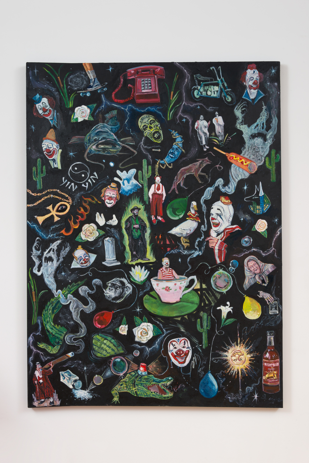 Davey Gant  The Bad Bad, 2016 oil on canvas 44 x 60 in.