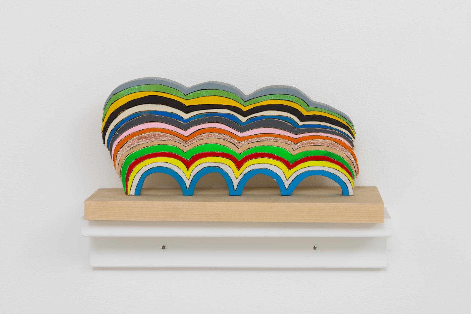 Damien Hoar de Galvan  wave ,2016 wood, paint 5 ½ x 11 x 4 ½ in.