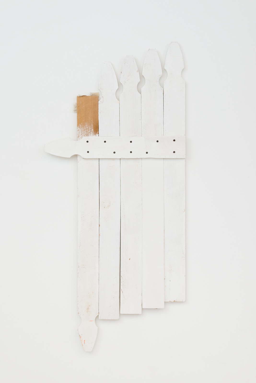 Samuel Scharf  Stay on your Side , 2017 wood, paint 52 x 23 x 2 in.