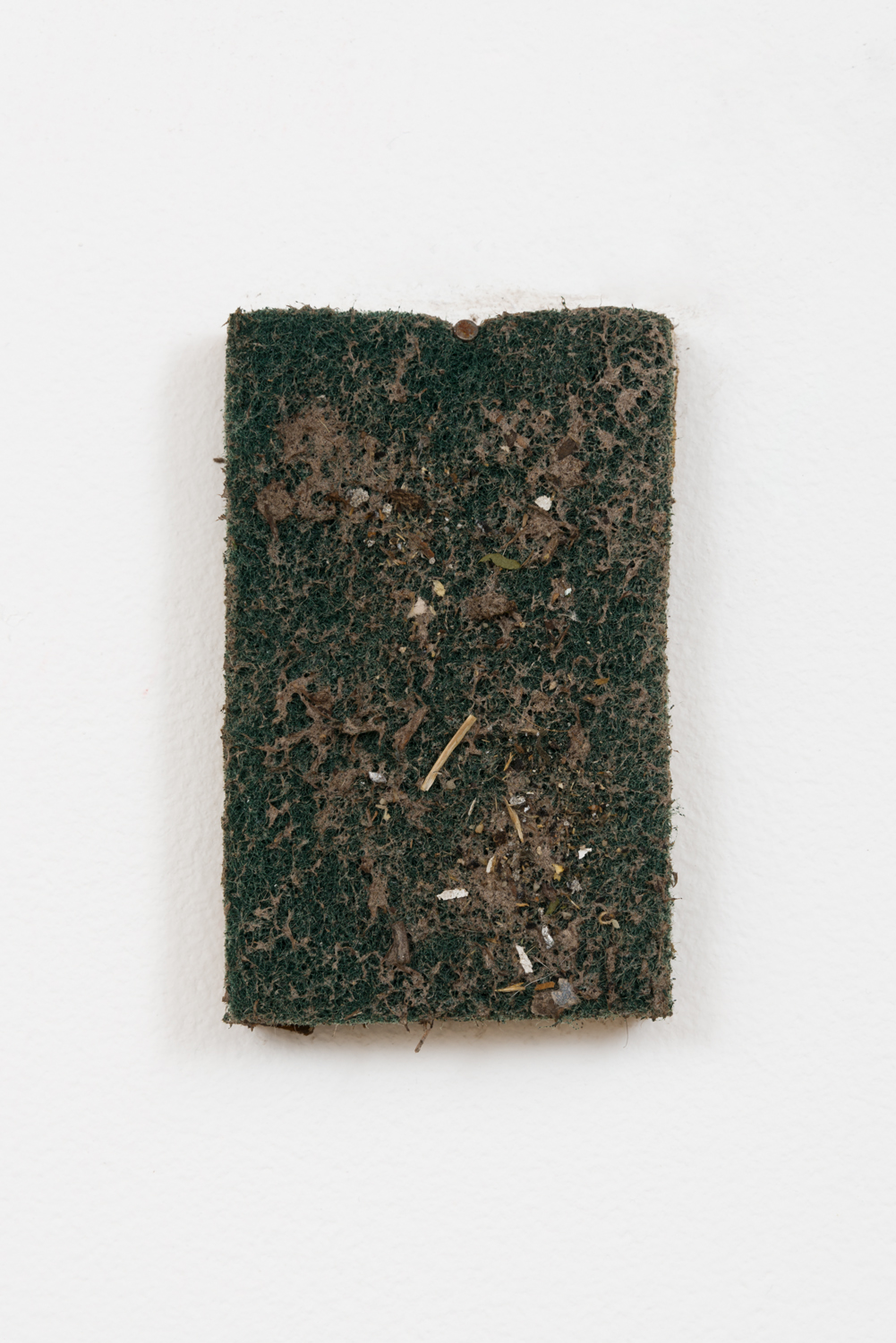 manuel arturo abreu  Untitled , 2015 sponge and grime 4 ½ x 2 ¾ x ¾ inches