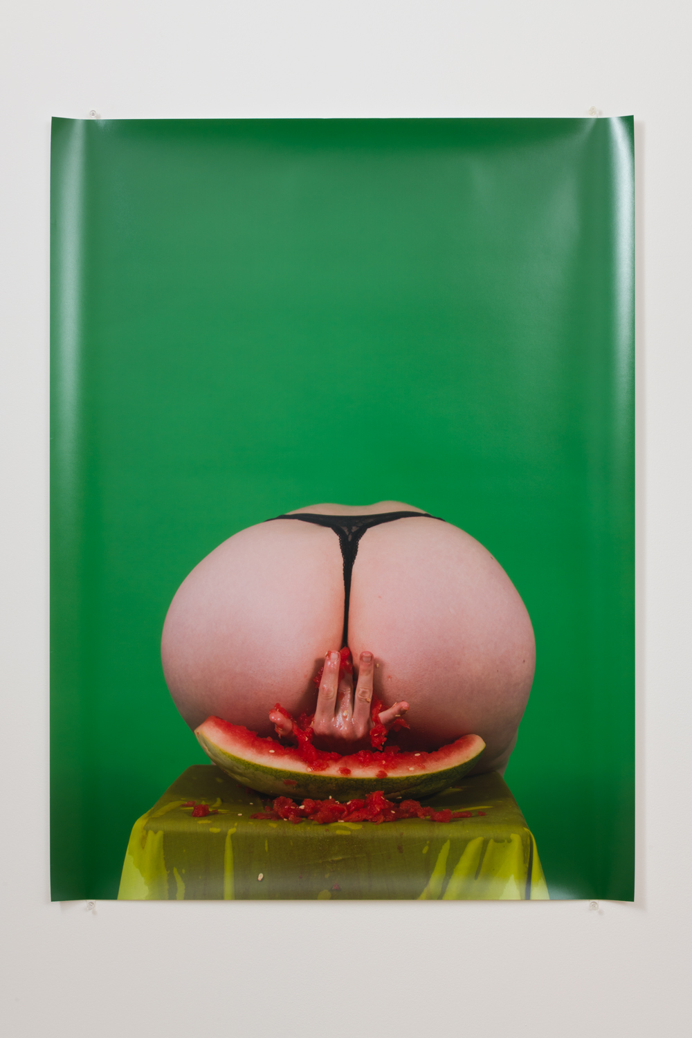 Amanda Alfieri  Feed da Booty: Watermelon,  2016 digital print Edition of 5 + 1AP 40 x 30 in.