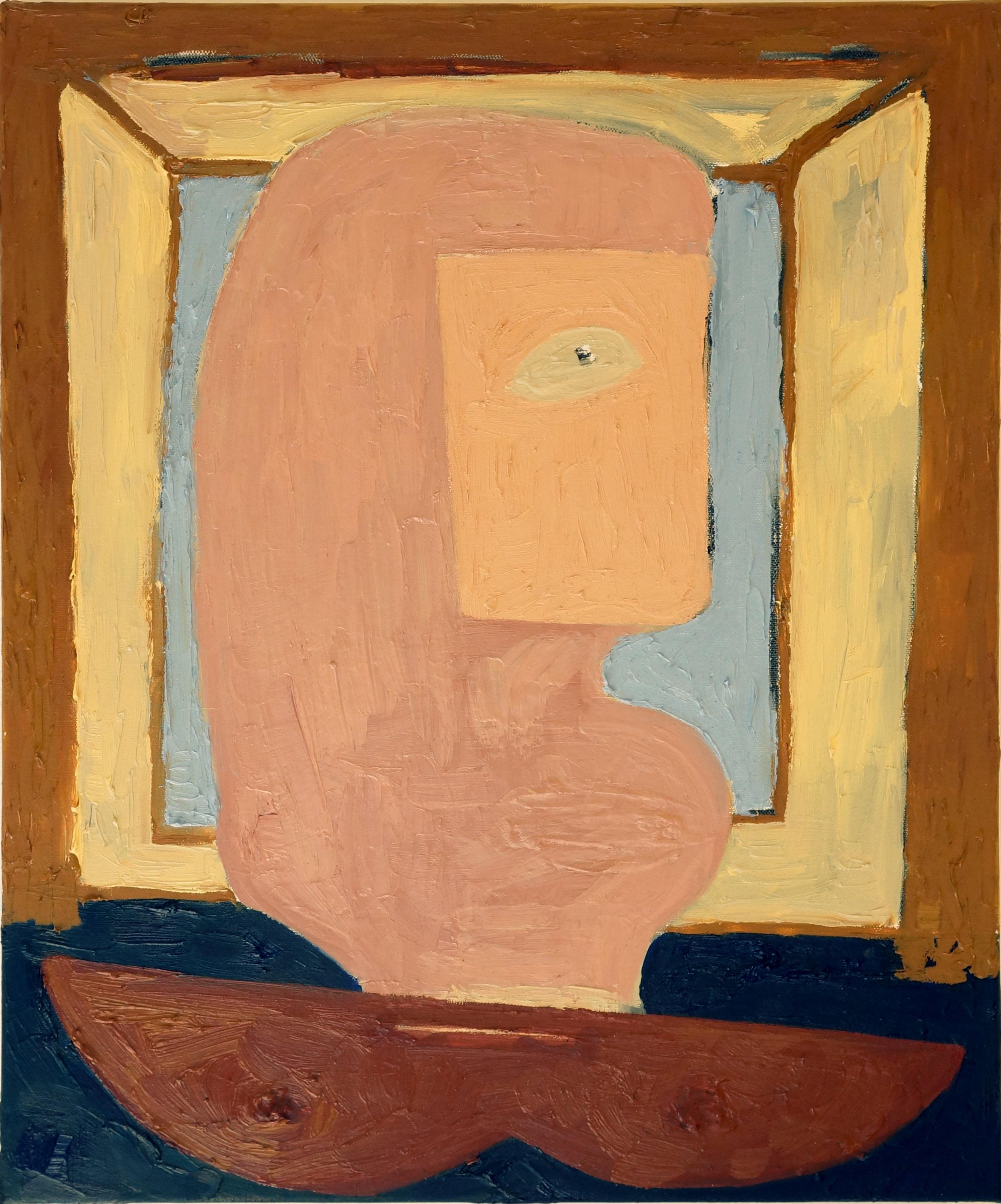 Mattea Perrotta  Facetime/Deception , 2018 oil on canvas 20 x 16 in.