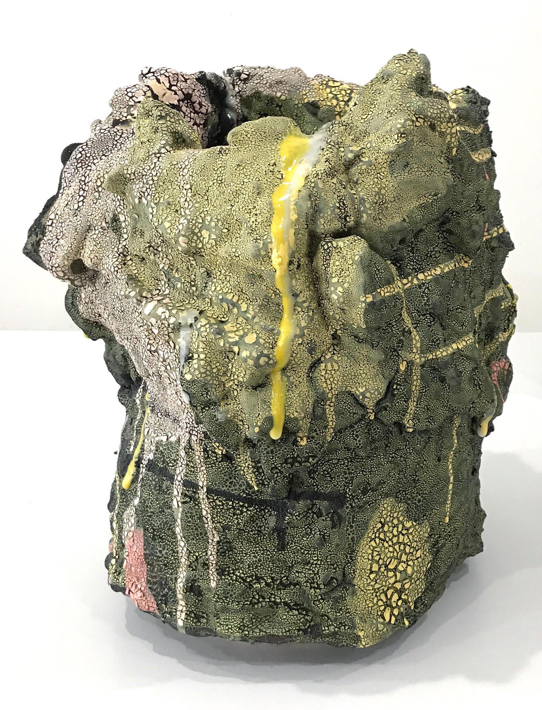 Brian Rochefort  Vessel 234,  2017 ceramic, glaze 16 x 15 x 15 in.