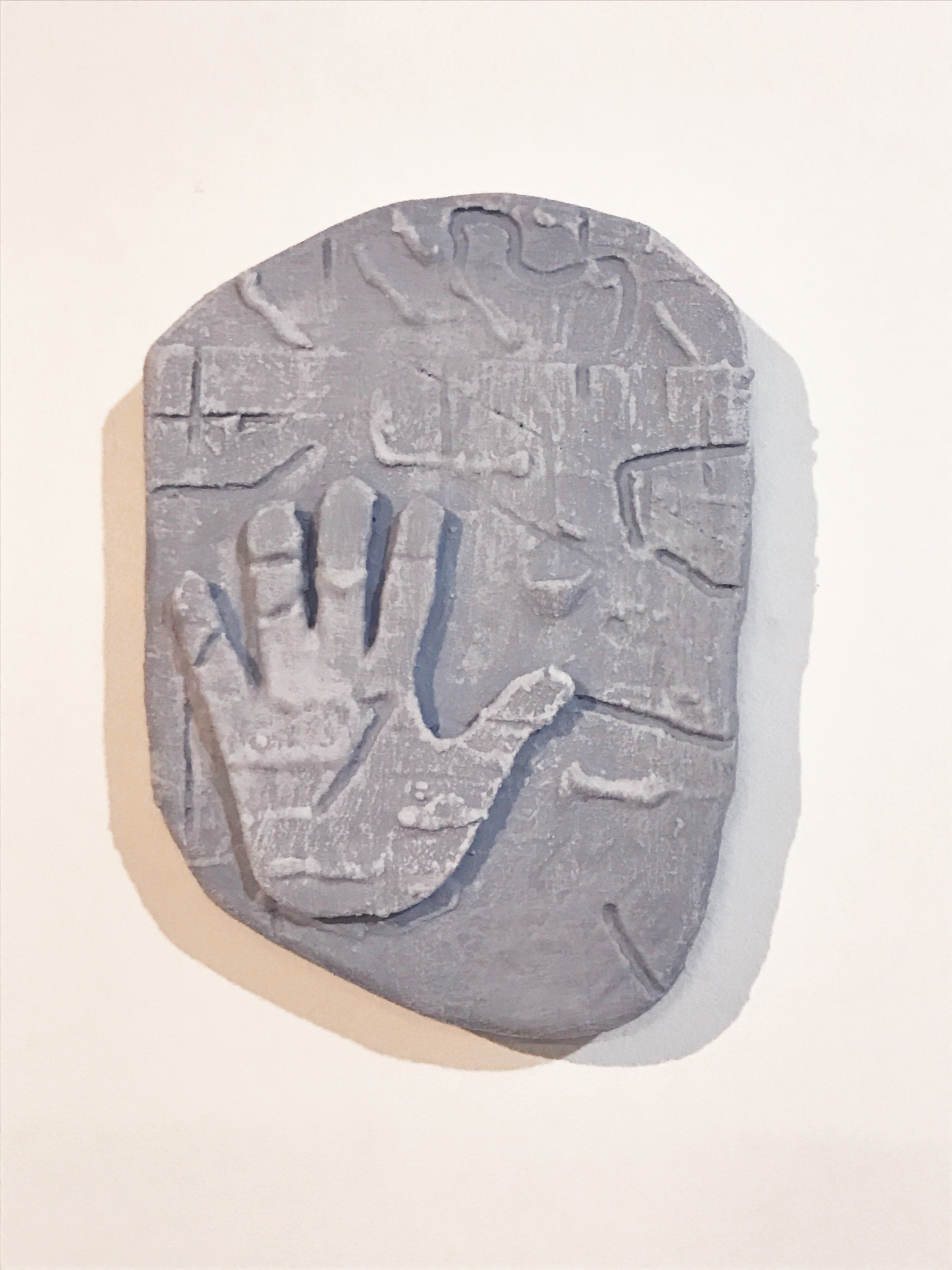 Don Edler  Burial Stone 2 , 2017 plywood, plaster, liquid nails, latex, surf wax 14 x 10 in.