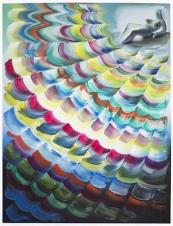 Lauren Satlowski Wave Painting 08, 2017 oil on canvas 48 x 36 x 2 in.