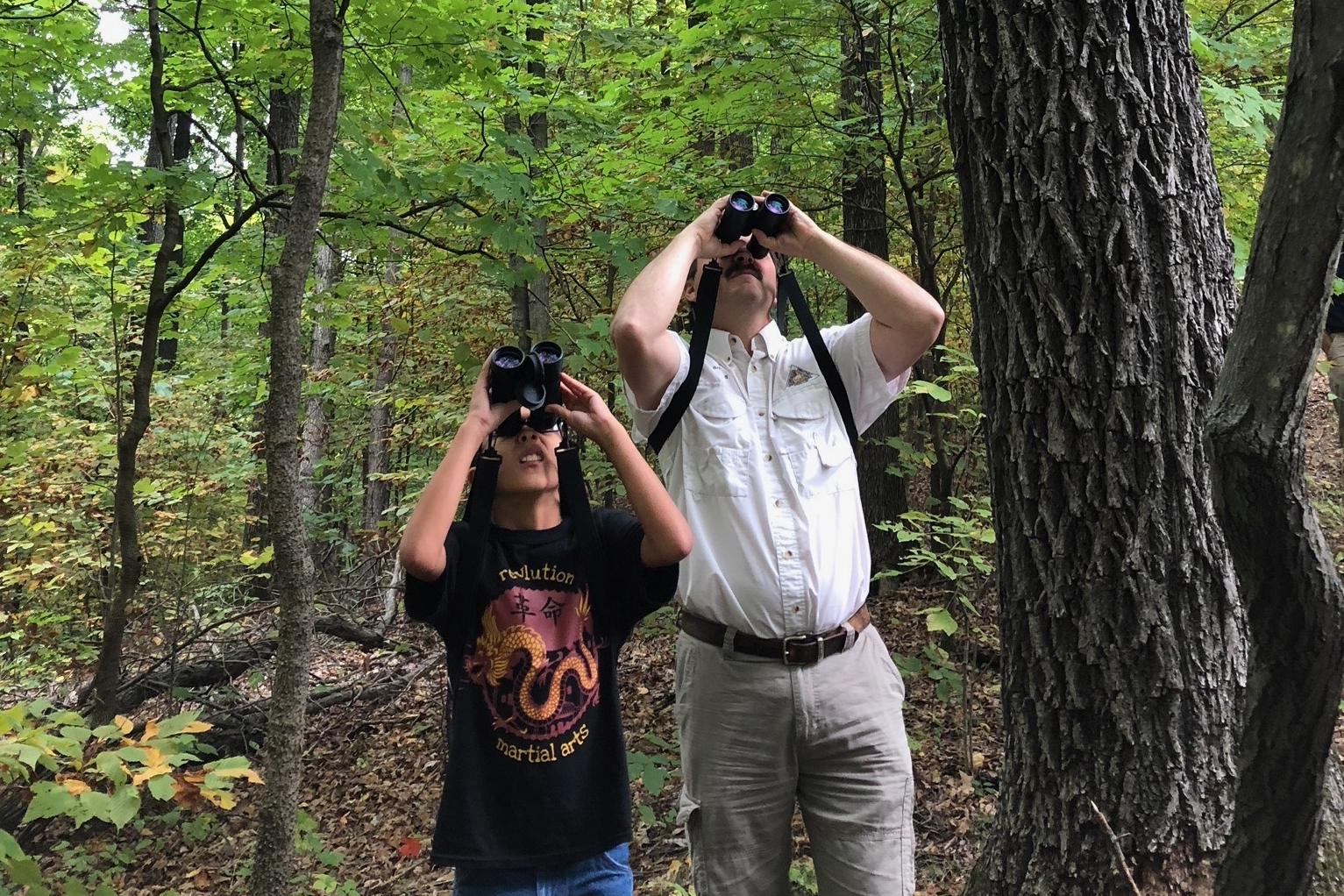 2017 Conference - Forestkeepers spent the day hiking through Engelmann Woods Conservation area to learn about Forest Management and its effect on birds. They were joined by three members of the Audubon Society who helped find and identify birds during the hike.