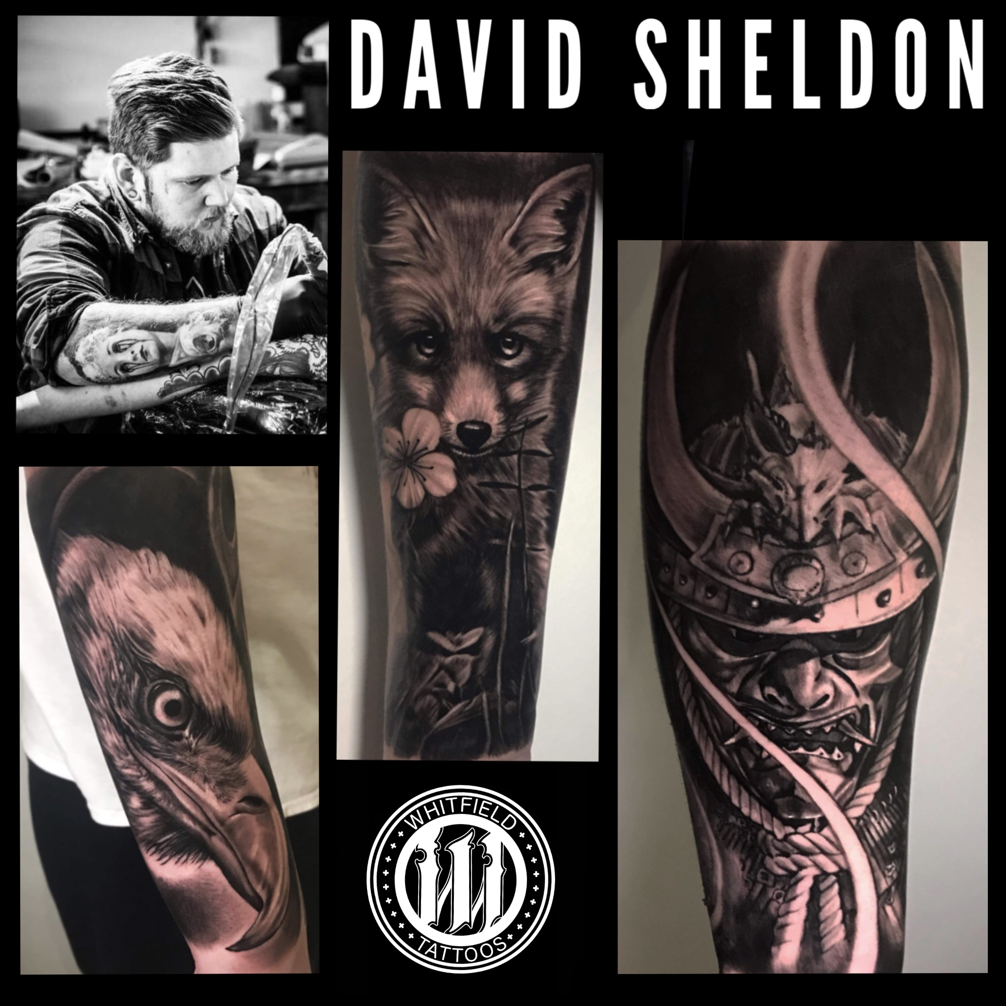 David Sheldon - Dave specializes in black and grey realism
