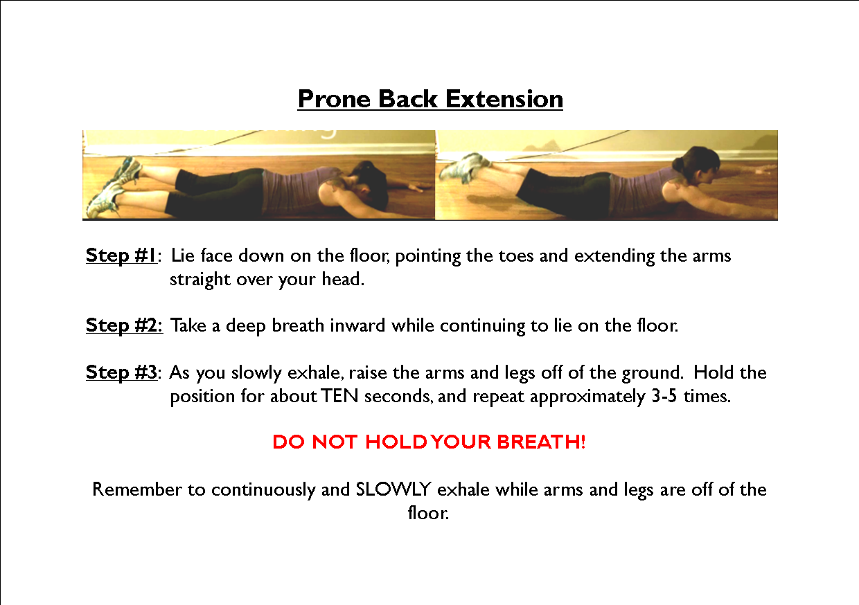 Prone Back Extension Tonicity Fit Personal Training Studio