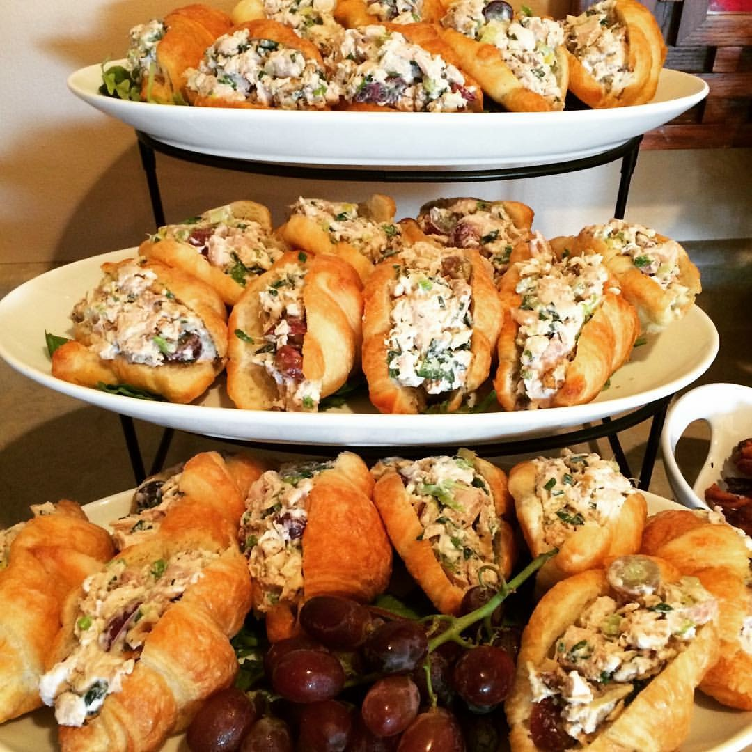 "Lyndsey's ""Famous"" Walnut and Grape Chicken Salad Croissants"