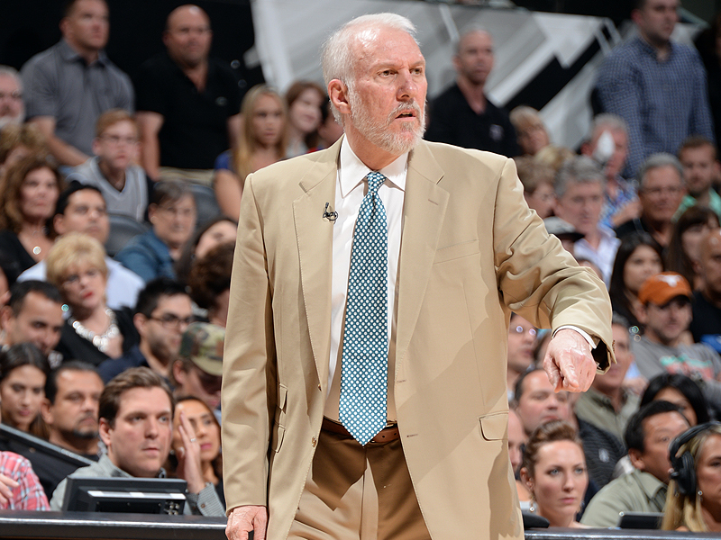 Gregg Popovich, during Game 1 against the Golden State Warriors (5/14/2017)