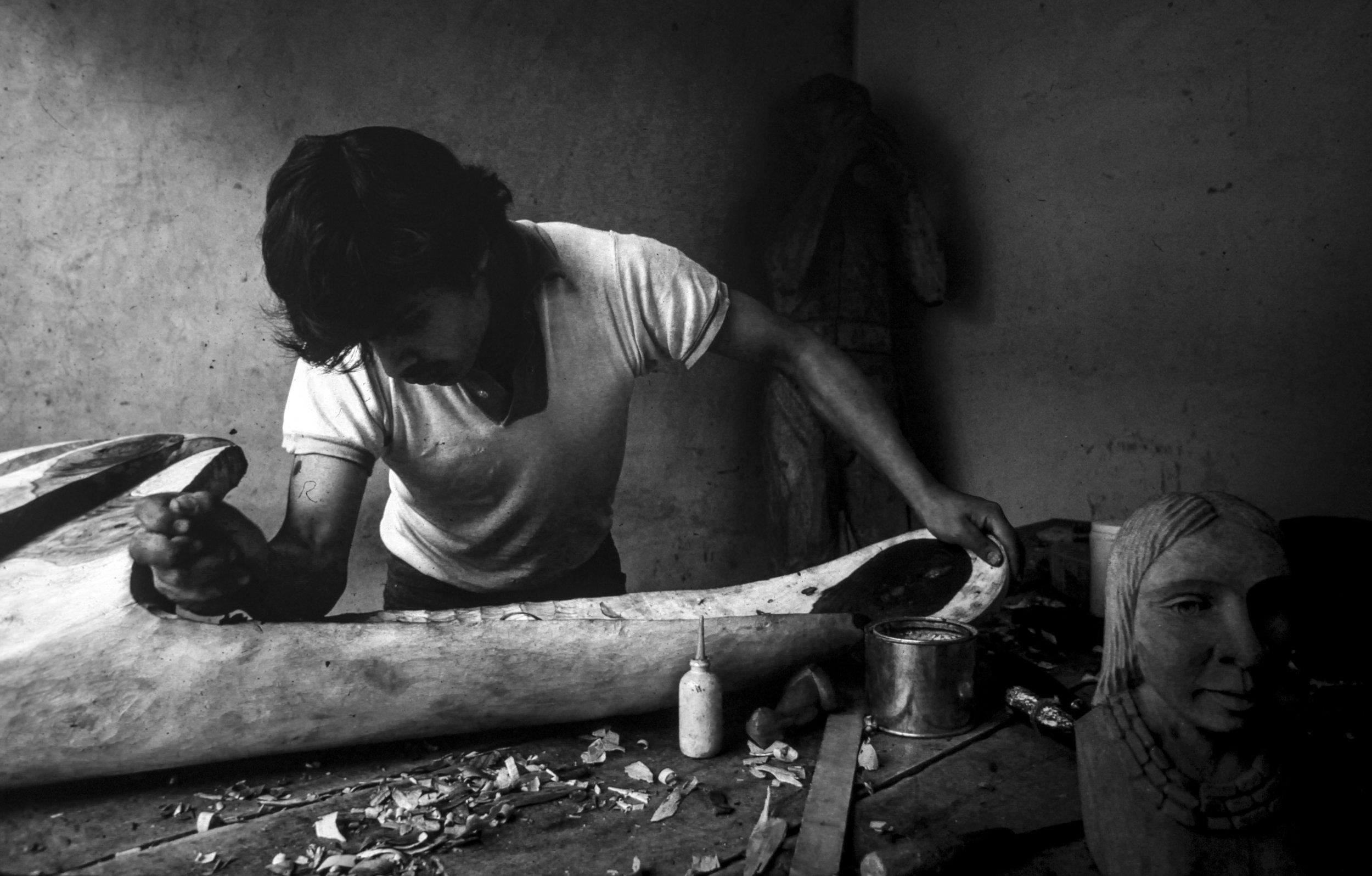 Wood Carver   Ecuador - 1978