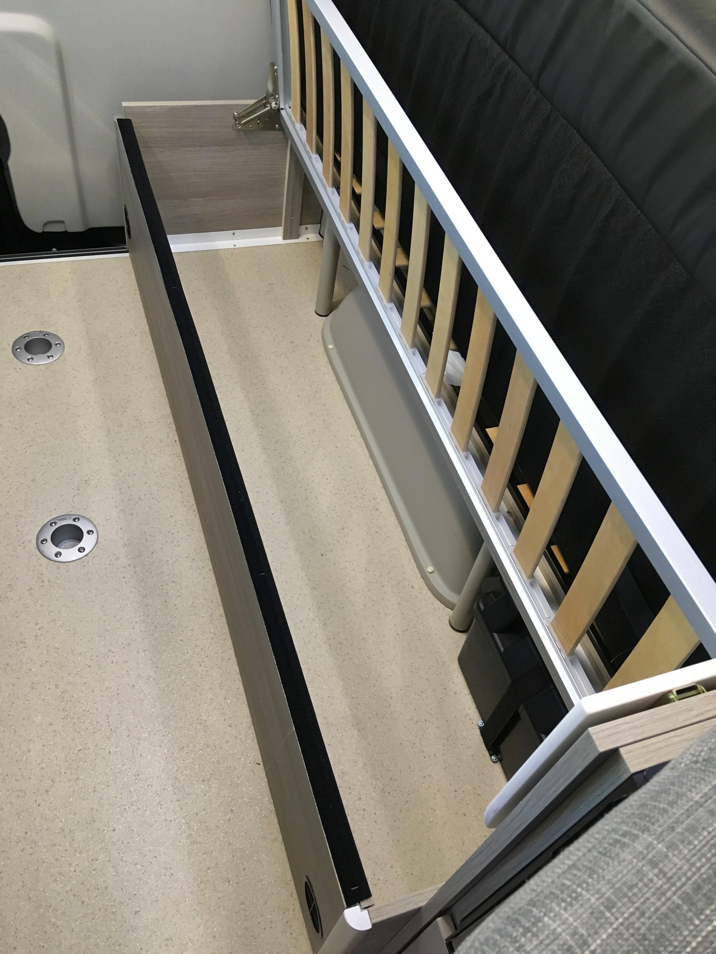 Storage under Rebel sofa