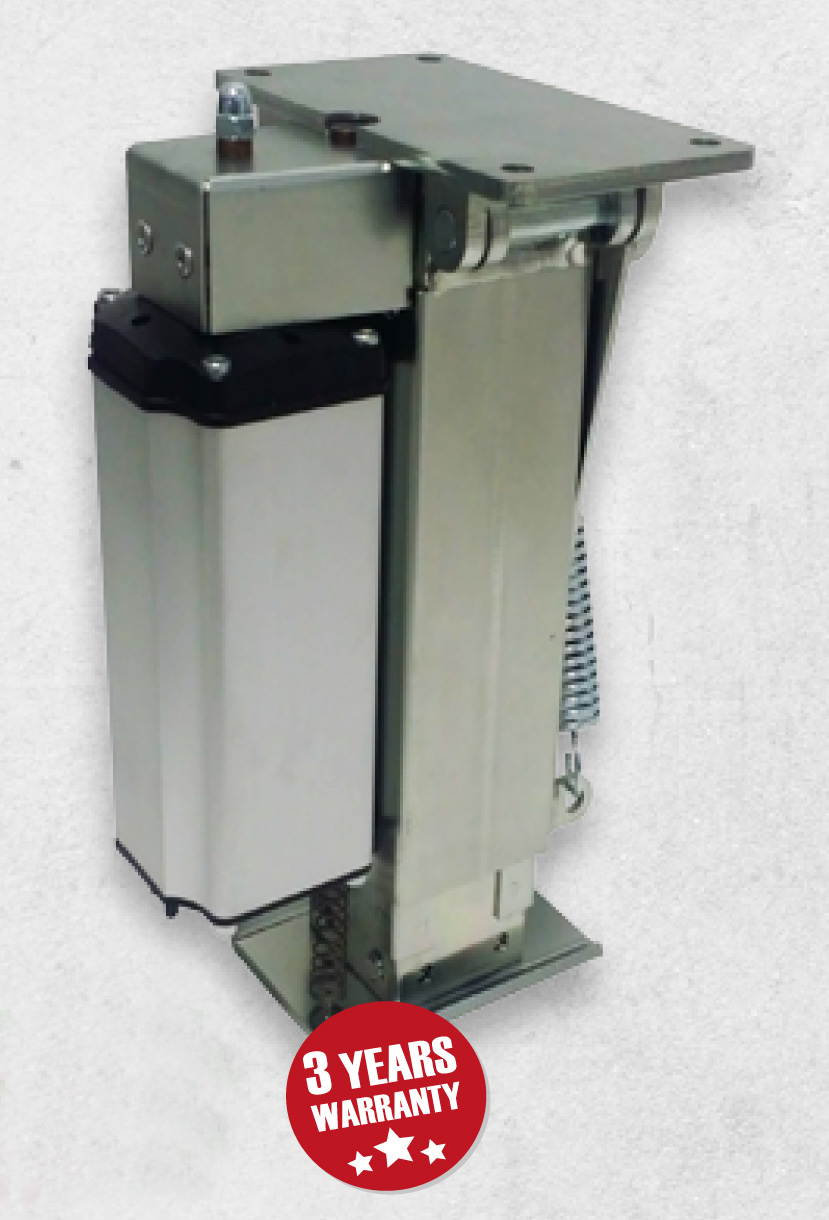 - Fully fitted system includes:-4x actuator with active thrust force of 2000 kg and a static strength of 5000 kg. The Autolift system average absorption is about 12A. Vertically measures from 300 mm to 420 mm.Control unit box with integrated self levelling system supplied entirely pre-wired and protected against weather and road conditions.Control panel and remote control for outside use.4x Jack pads and positioning rod3 years manufacturers warranty£3995.00 inc. VAT