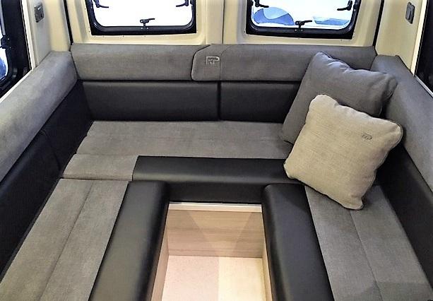 Optional half leather half fabric U shaped lounge