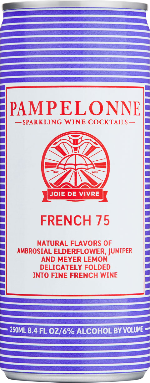 "<p id=""f75"">French 75</p>Natural flavors of ambrosial elderflower, juniper and Meyer lemon delicately folded into fine french wine"