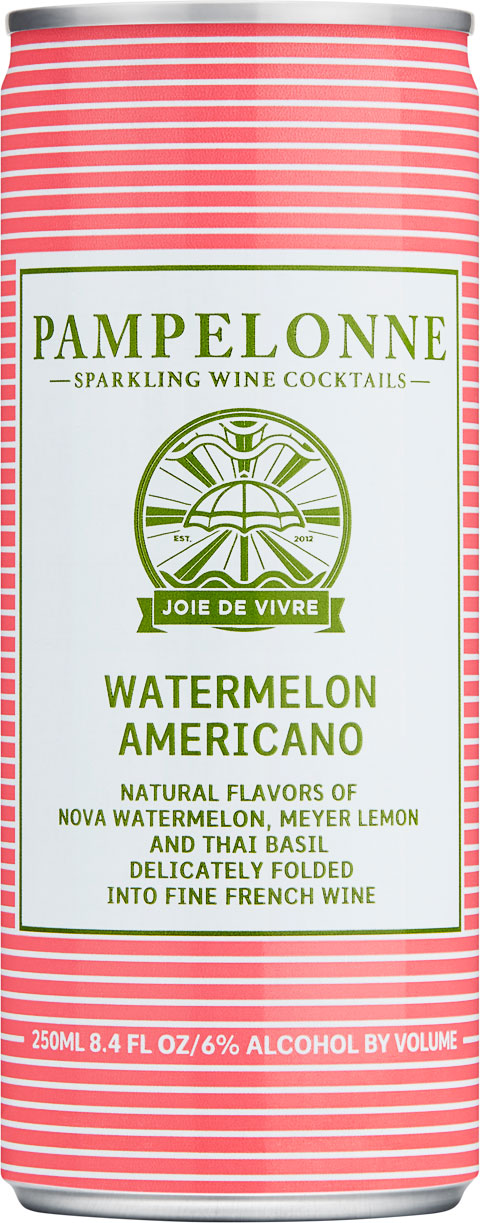 "<p id=""w75"">Watermelon Americano</p>Natural flavors of Nova watermelon, Meyer lemon and Thai basil delicately folded into fine french wine"