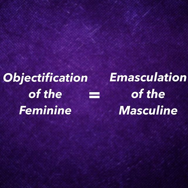 We are most familiar with the objectification of the feminine.  When we objectify the feminine we reduce it, we make it one dimensional, we make it into a commodity (for our use) and ultimately we disempower it for our control.  If a masculine partner wants to take away the power of his feminine partner (because of his own wounding) he will reduce, perhaps dismissing or belittling, her feminine gifts and abilities, or maybe only validate the parts of her (usually her body, her sexuality, or her beauty) he wants, which removes her authentic power.  His objectification is his weapon against the feminine.  But the feminine partner, coming from her unhealthy wounding, will also resort to this in relationship, we just don't talk about it as much.  If the feminine partner wants to take away the masculine's power, she will emasculate him by taking over his position in the relationship, taking the lead herself, having an inability to receive from him, not trusting his judgment, doing it for him, only valuing certain things he brings to the relationship like his ability to provide connection but only if and when it matches her expectations, which all remove his power as a complex and layered masculine being.  How do we keep from resorting to this? And you could ask this question in regards to intimate relationships, but it applies on a mass scale as well.  We get in touch with and heal our own relationship with our feminine (as a man) and our masculine (as a woman). . . . . #feminineenergy #relationships #love #divinefeminine #divinemasculine #energy