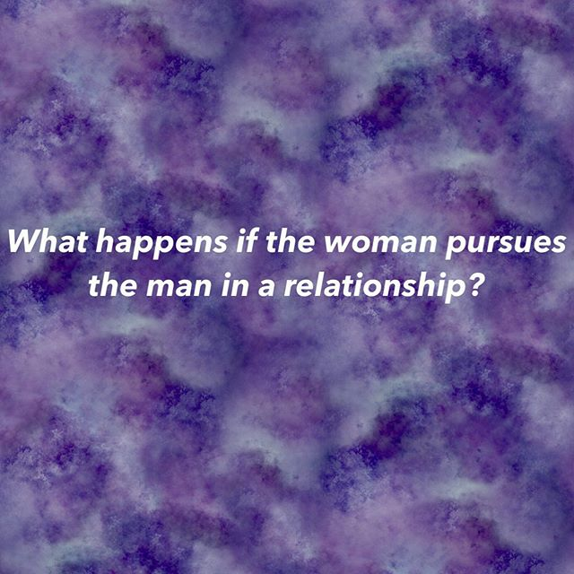 Can a woman pursue the man?  Sure. Of course she can do this. There aren't rules of right and wrong in polarity - but there are ways of doing things that are going to be less beneficial for you, or more beneficial for you - depending on if you are more feminine or masculine essence in a relationship. You get to choose.  If you are a feminine essence being inside a relationship, pursuing is going to be less beneficial for you in the long run.  Before you assume this has anything to do with feminism, it doesn't. It has to do with the energy play between two people who want polarity and attraction.  When a feminine essence woman pursues she is setting up a dynamic of being in her masculine - taking the lead, directing the situation, having an agenda/mission for the relationship - and her doing these things doesn't feel good to a healthy masculine partner.  Two masculine energies do not create attraction.  Doing those things make HIM feel good when he does them because they come from a place of WORTH inside him (if he/they are a masculine essence being). Those things make him feel valuable as a man, and being able to do those things build sexual attraction within him. When he feels the freedom and space to do them himself, it triggers him to step up and discover what it feels like to be a healthy masculine being. It gives him an avenue to becoming his best self. It is a gift for him to do those things. In the same way it is a gift for the feminine essence being to feel completely safe to embody her feminine.  But if you are doing those things for him at the beginning - one of two things could happen.  1 - He will go along with it. Because he's human and it still can feel good. And he'll enjoy it, for a while. But eventually his masculine energy will kick in and he will start to feel smothered or pushed away by your masculine energy. And it's important to note that a feminine essence being TRYING to make something happen in a relationship is not coming from a place of WORTH. This is when he pulls away or gets distant. Meanwhile, you are unsure how he really feels about you - but you don't realize you are the one who set this dynamic up.  Continued in the comments 👇👇