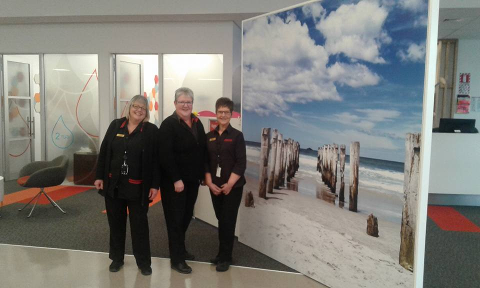 New Zealand Blood service St Clair Beach Poles in Dunedin