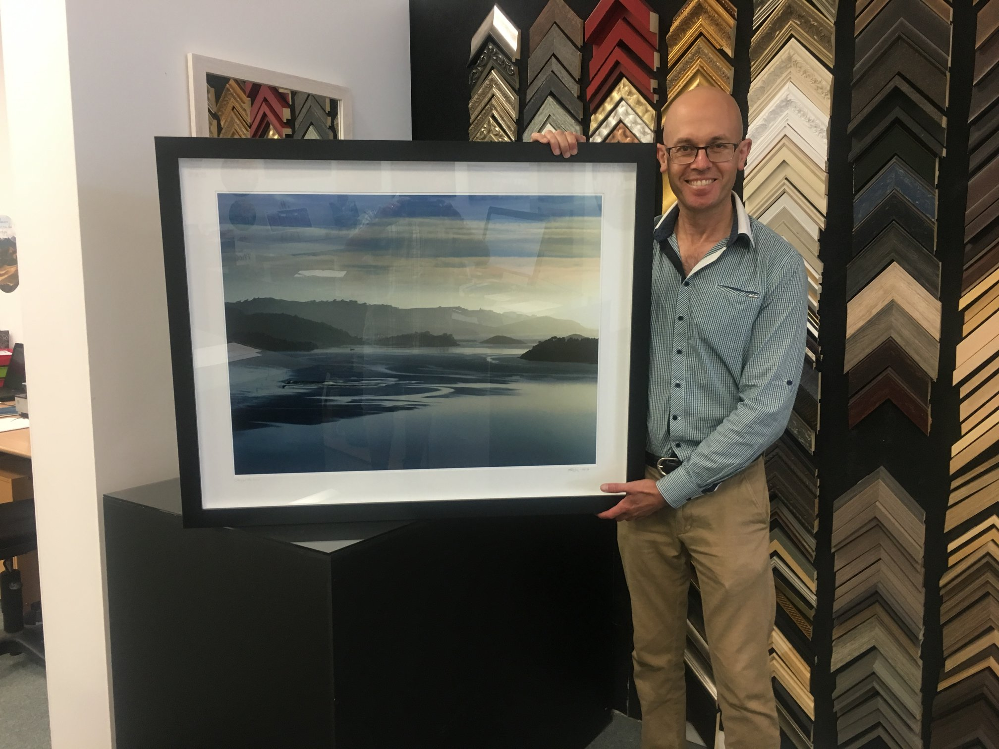 Auctioned image of Otago Harbour for charity