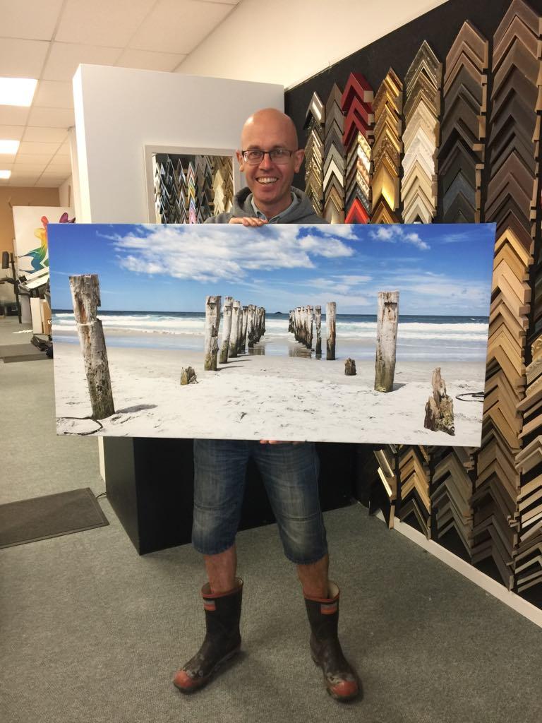St Clair Beach Poles image on canvas