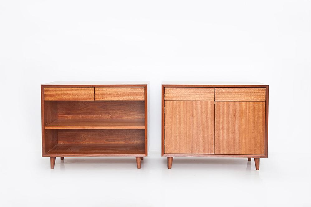 wood veneer side tables