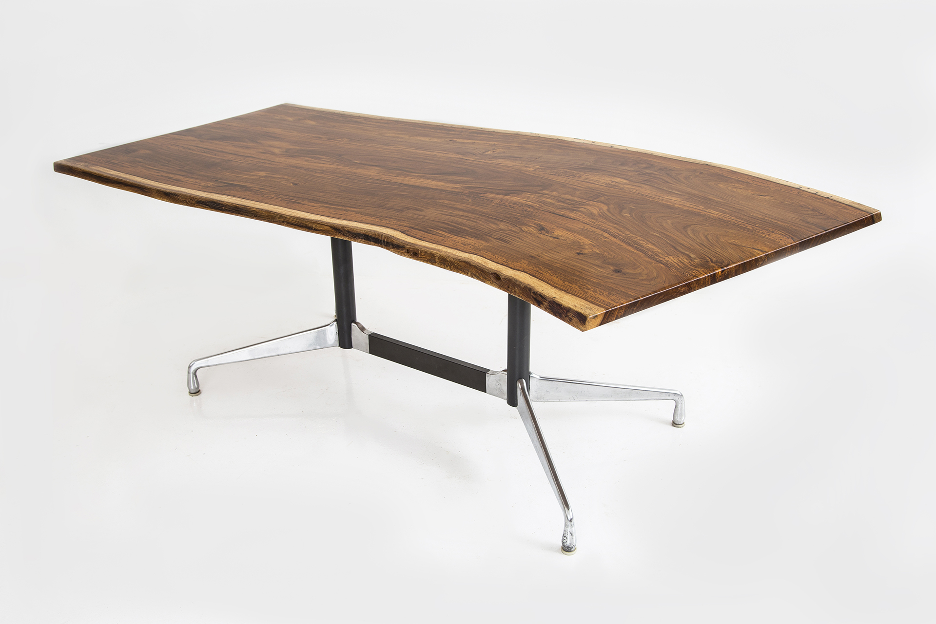 rosewood slab dining table