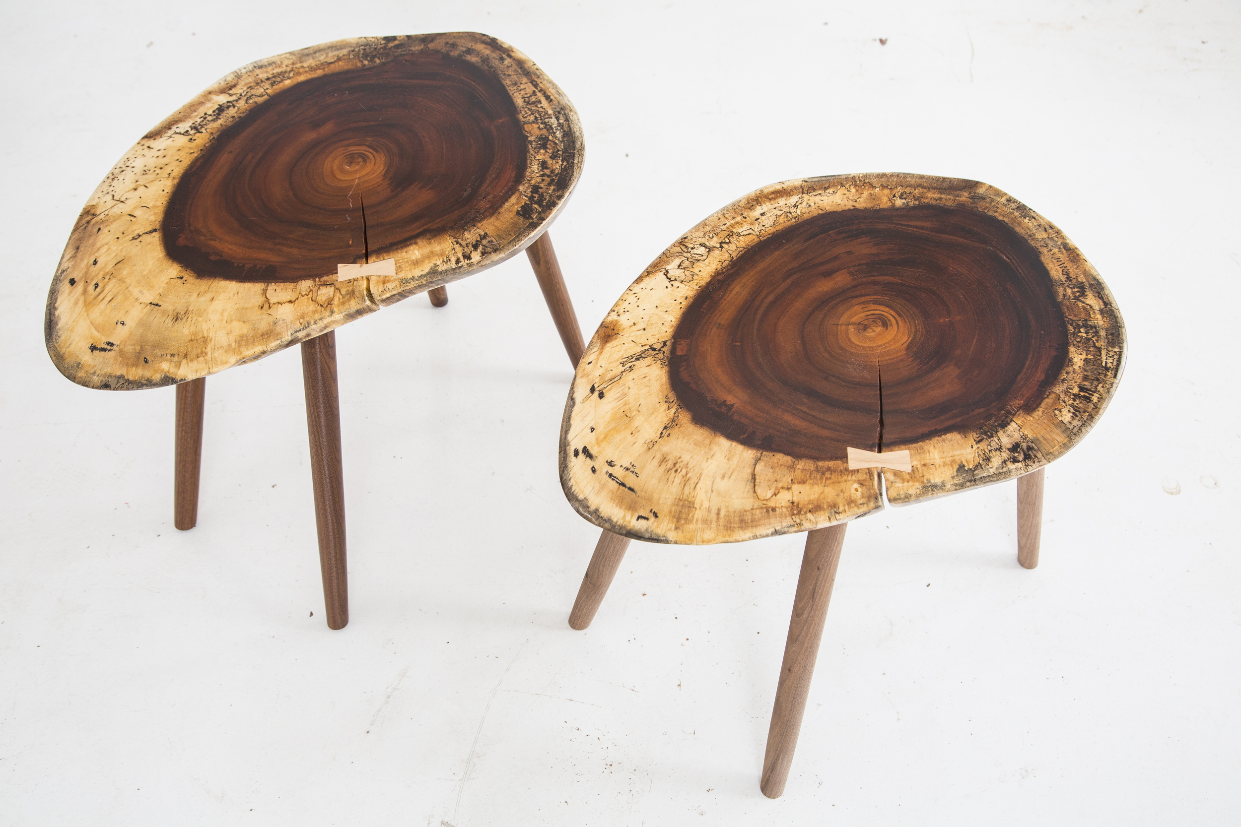solid wood coin coffee table