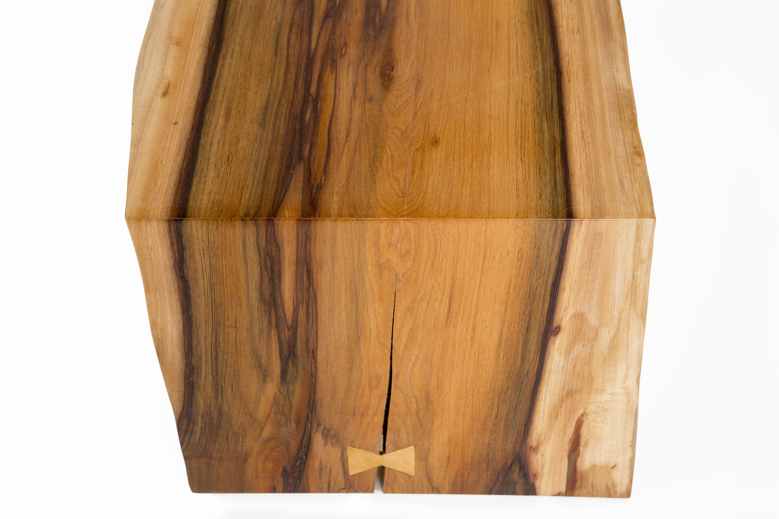 slab wood bench dovetail