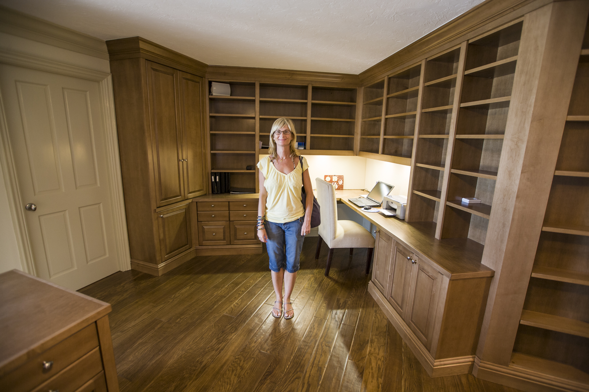 custom office cabinetry