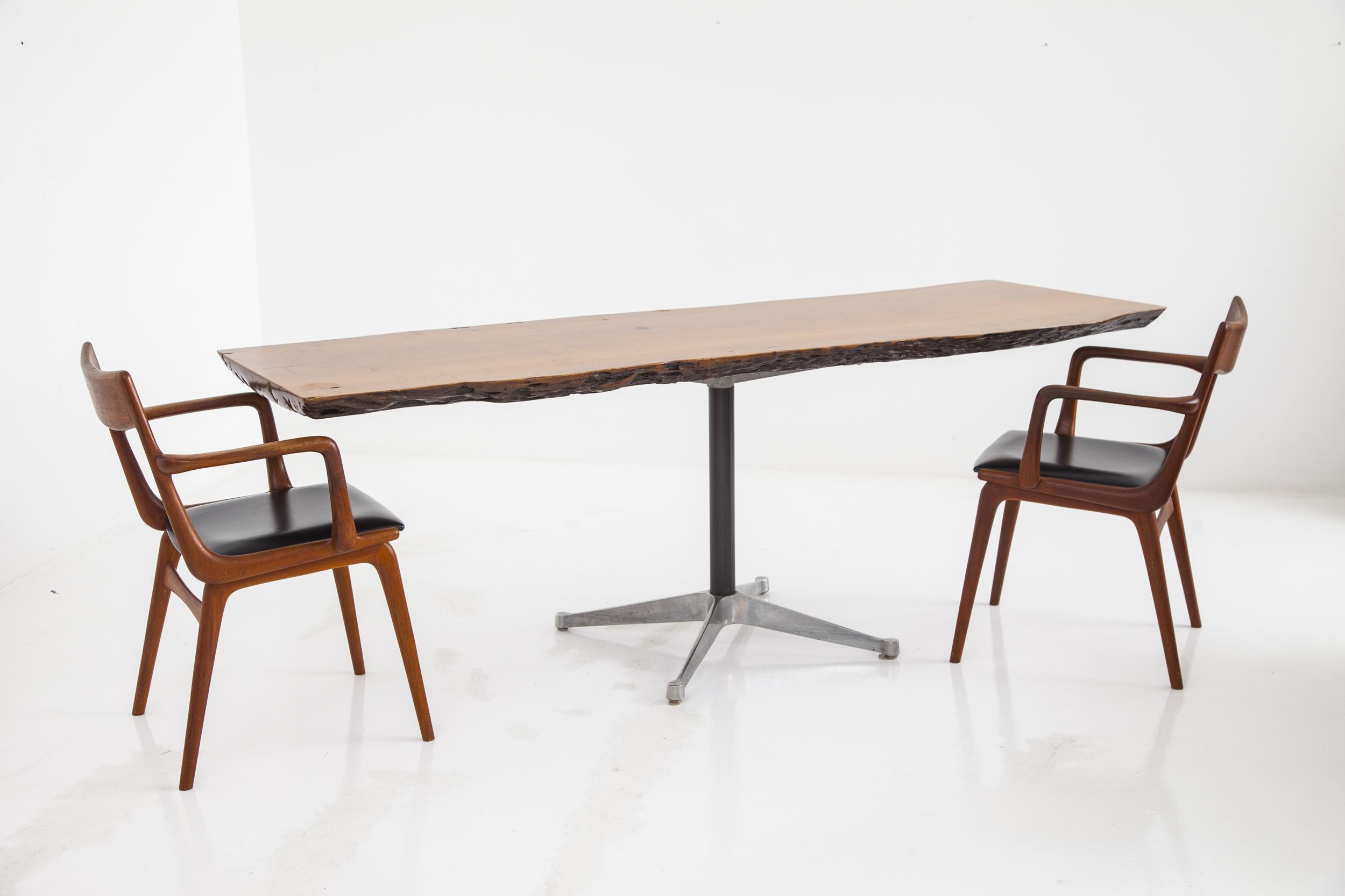 slab live edge dining table