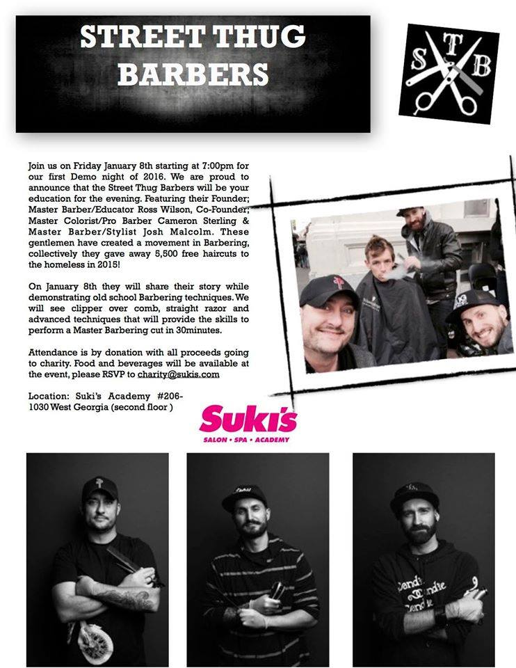 Suki's Socials   Suki's Vancouver   Street Thug Barbers