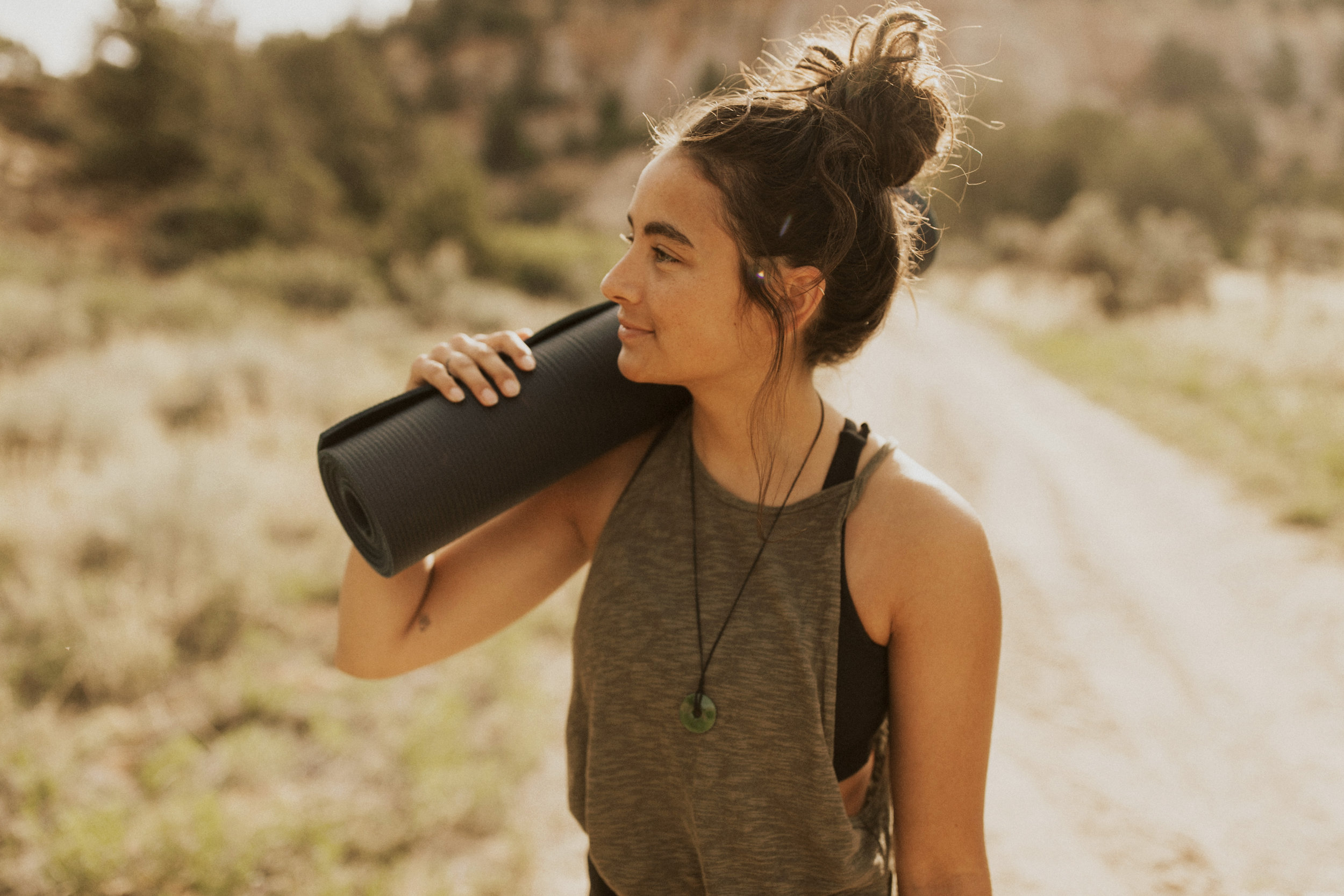 Stella Trincado - Stella is a 20 year old yogi from Northern Utah. She is a certified yoga instructor with a deep love for the desert. Besides yoga she is also a skier, rock climber, and an incredible friend to all.@stellatrincado