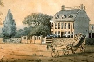 Peacefield as it was in 1787. (181 Adams Street)  www.nps.gov/adam