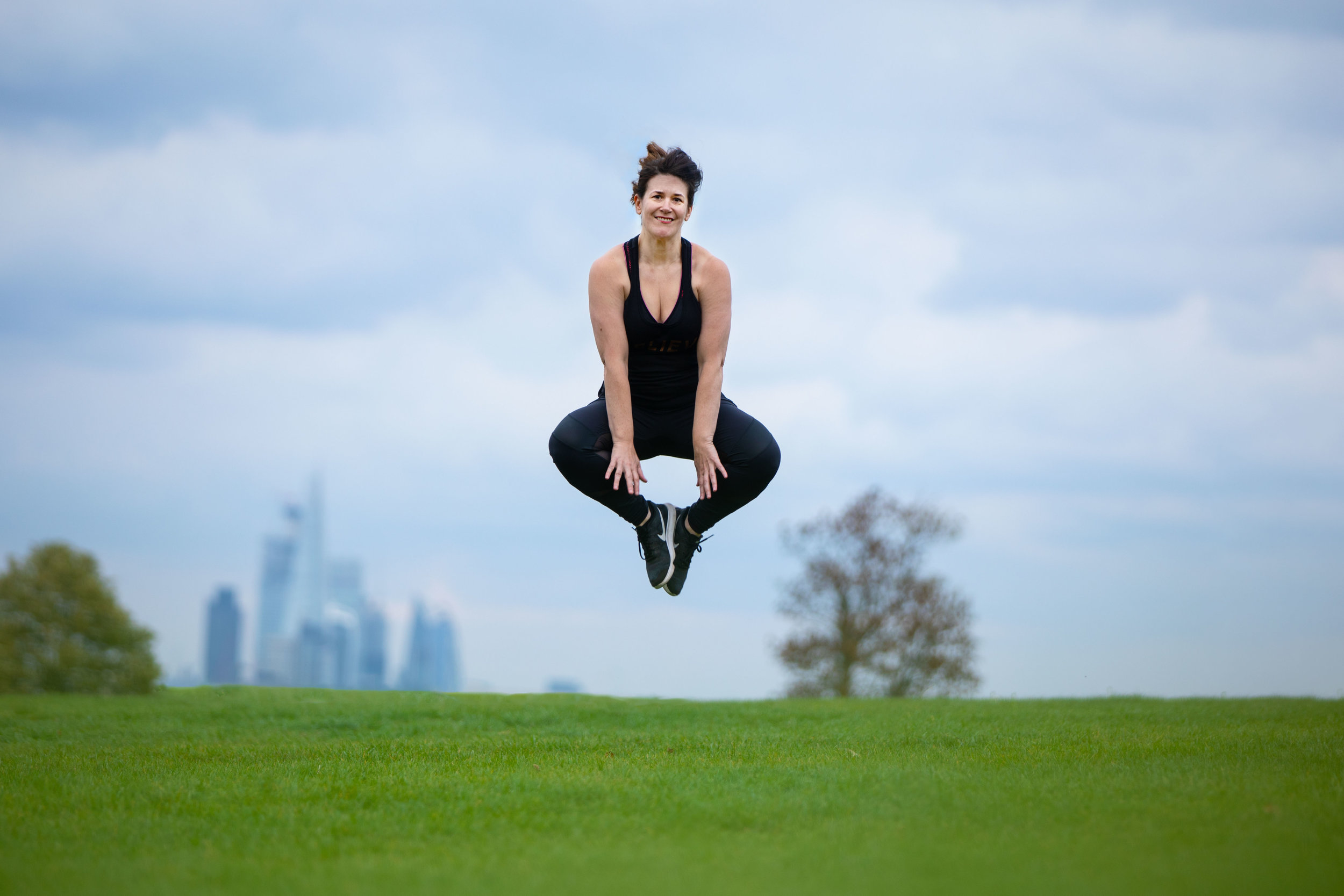 Branding photography for Alix, fast stepping fitness & step instructor, Brockwell Park, Herne Hill, London