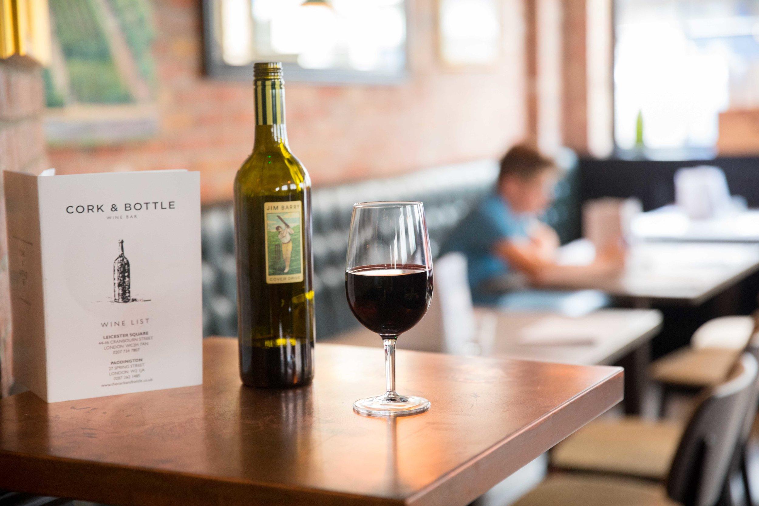 Commercial photography for Cork & Bottle Wine Bar in Paddington, London