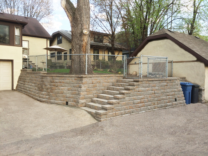 Alley Entrance Retaining Wall -