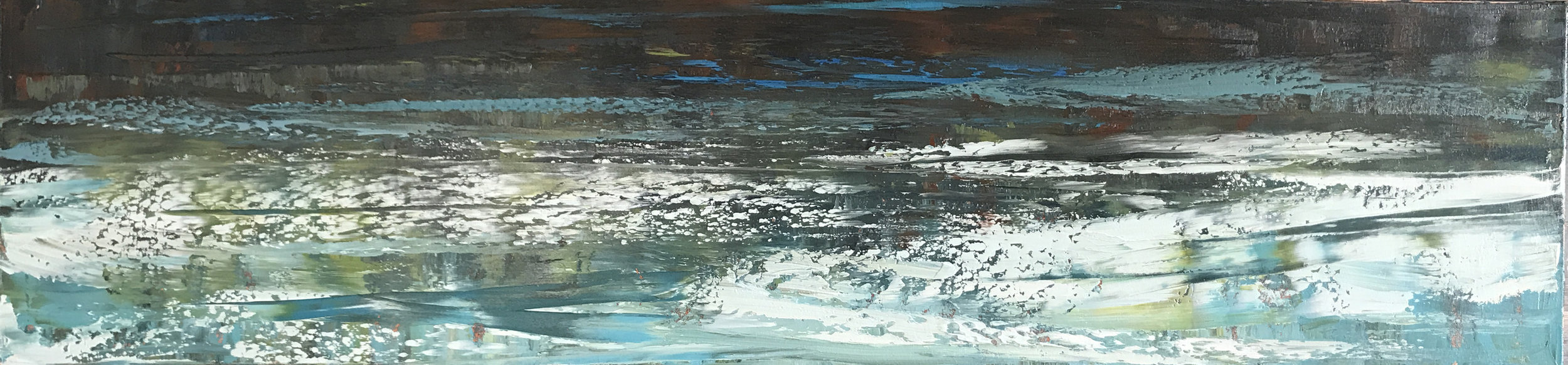 "Primordial Waters ""Surface Tension"" 12"" X 36"" $1800"
