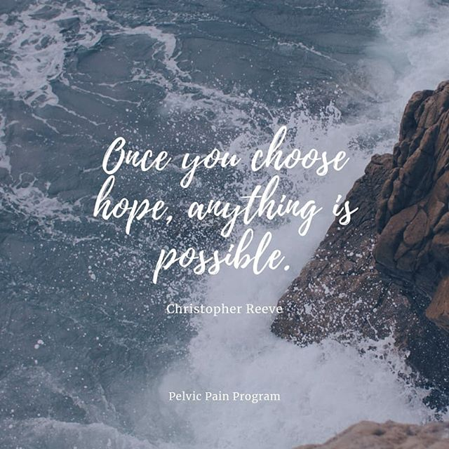Hope is what makea us believe that anything, that we try to achieve is possible. ------------------------------------------------------------------ 😇 Healing is Possible! 📌 Click link in bio for more details. 📱Follow @pelvicpainprogram to be updated. 🌐 www.pelvicpainprogram.com