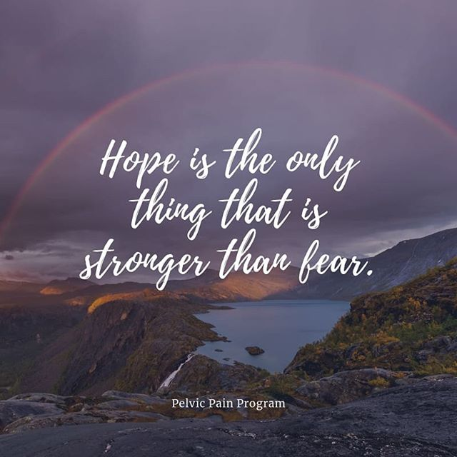 With hope, we can always do the things that we thought we can't do.
