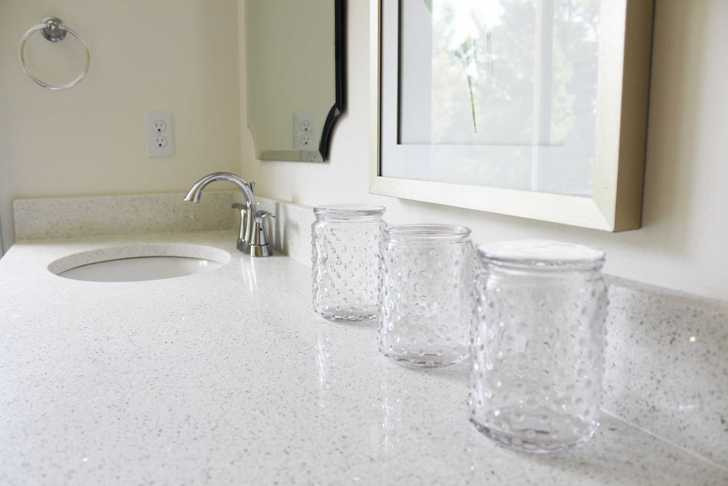 Sparkling White Quartz as featured on HGTV in our  #CapeChaletReno  project.