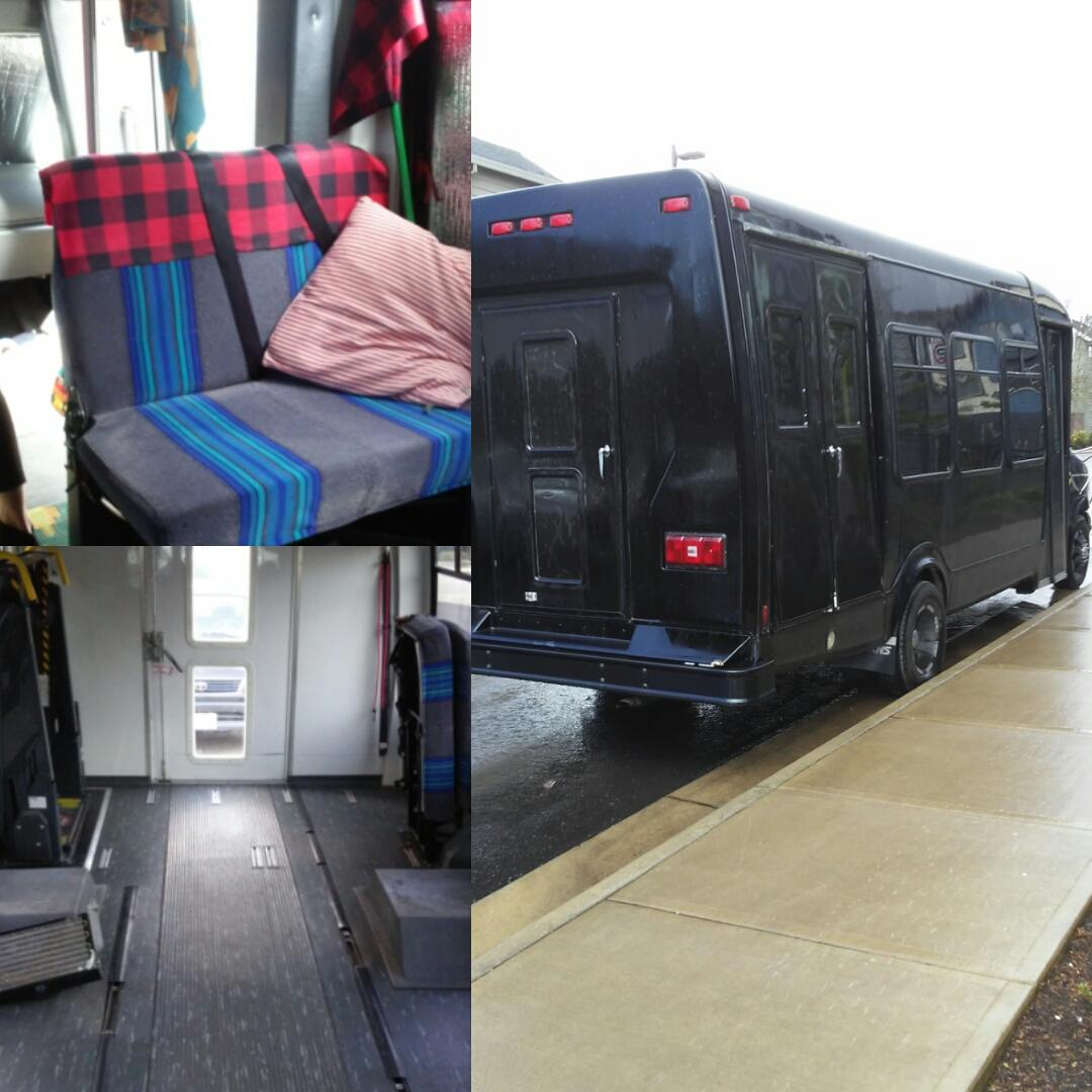 We began converting an old Ford E-450 in March 2017 into a tiny house on wheels.