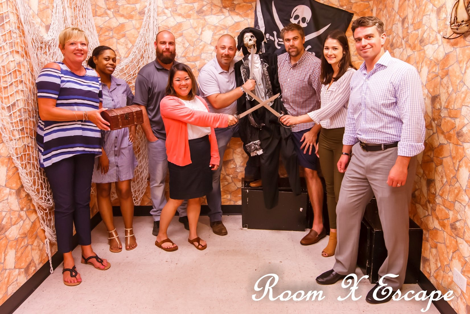 End of Summer Team Building at Room X Escape