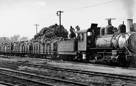Troop Train near Schofield Barracks, 1944