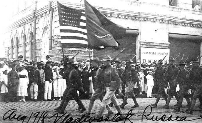 Wolfhounds on Parade, Vladivostock, 1918