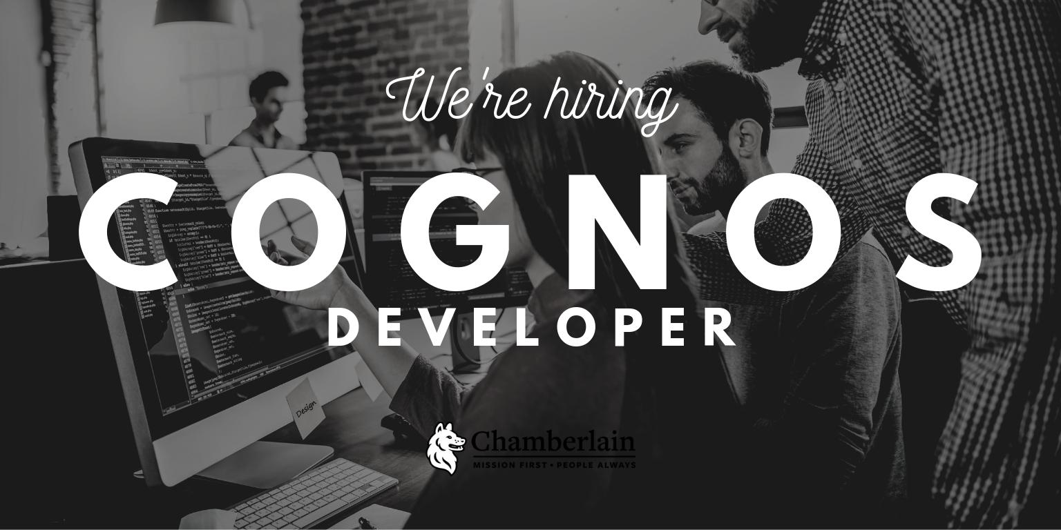 We are hiring a Cognos Developer