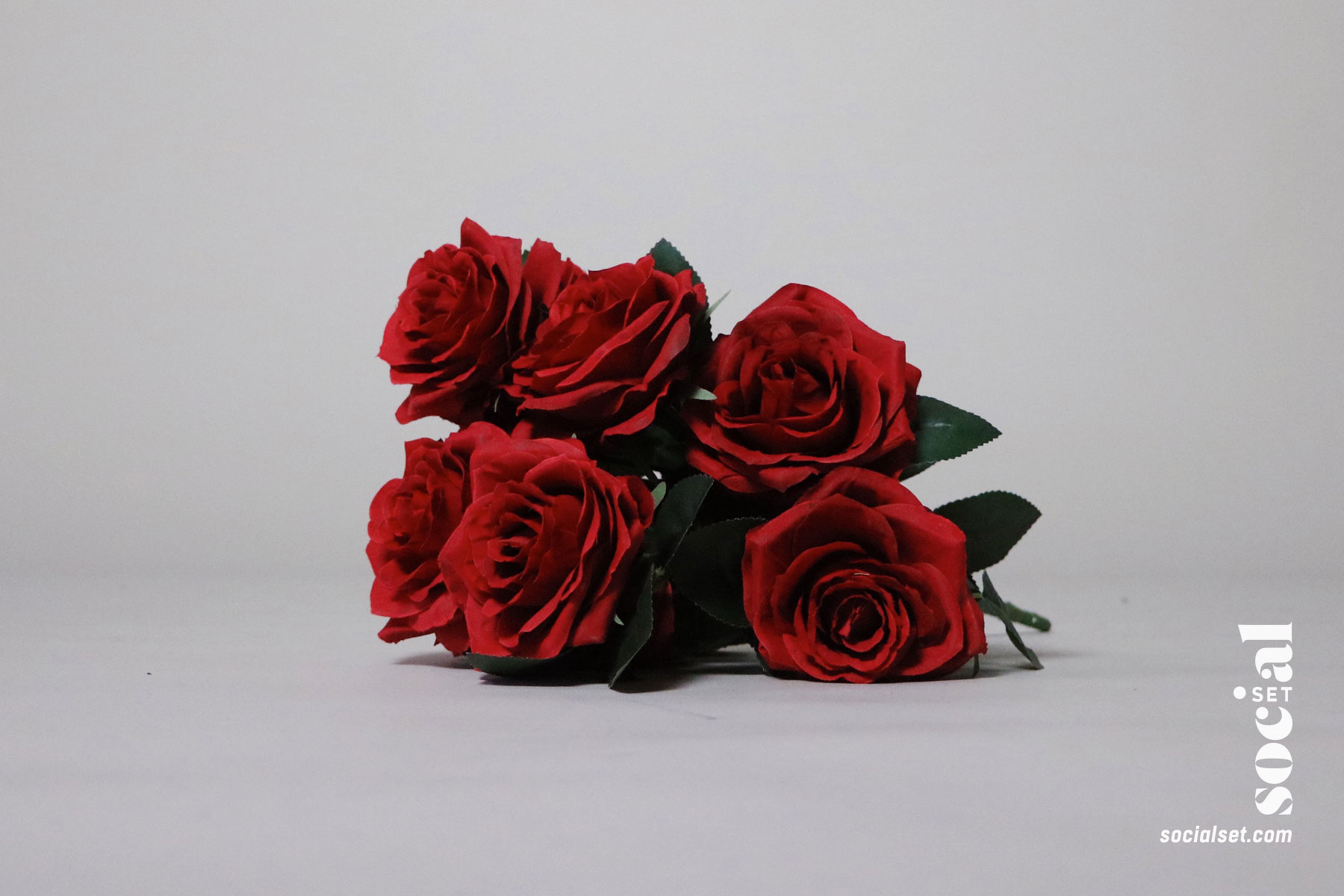 Faux Red Roses