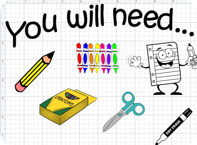 "Classroom routines made easy. - I plan to post the ""you will need…"" decal in the corner of my whiteboard and attach magnets to the tools so I can quickly and easily change them out before we switch activities."