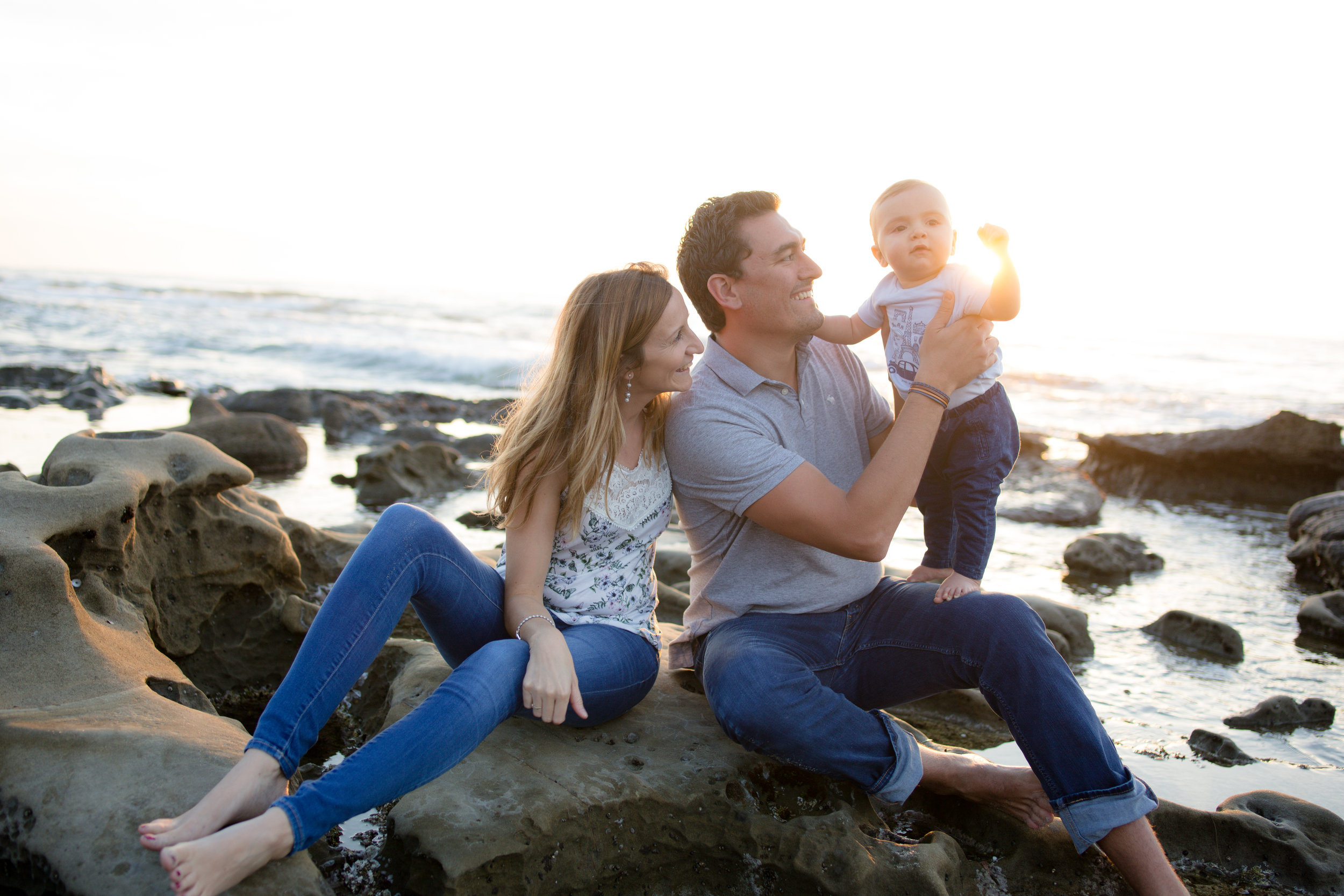 La Jolla Tide Pools - This is my favorite spot to go with families. There are a variety of great spots to go to, including the classic La Jolla Cove backdrop. The water here is calm, bright and blue, a perfect spot if you're interested in having a dip in the ocean at the end of the session.