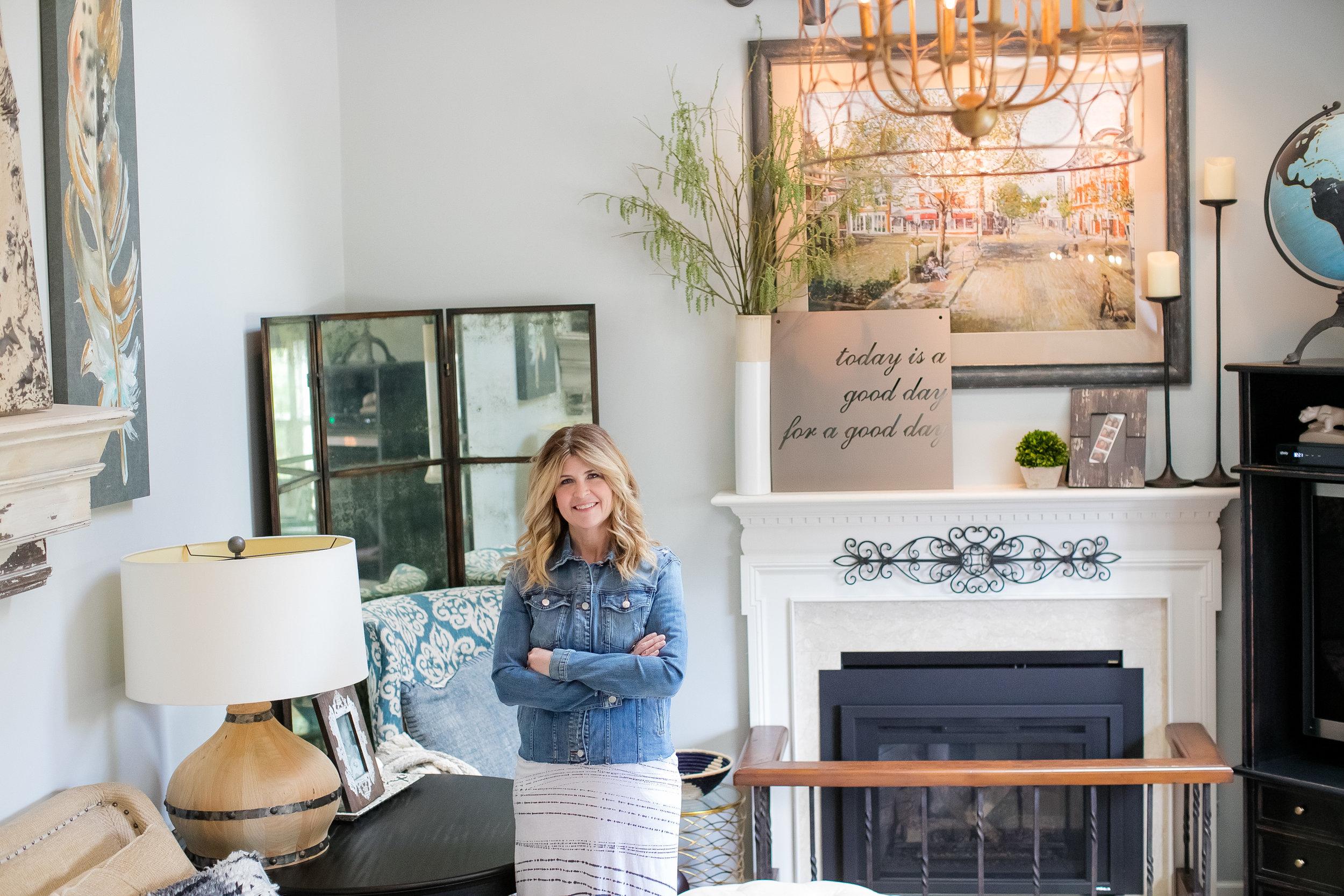 Portrait of Kelley Price in living room